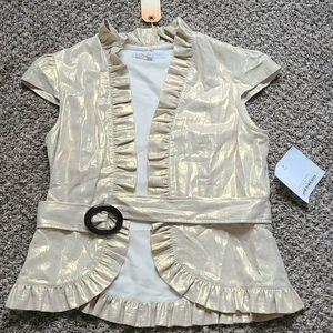 Jennifer Reale Gold shimmery Jacket